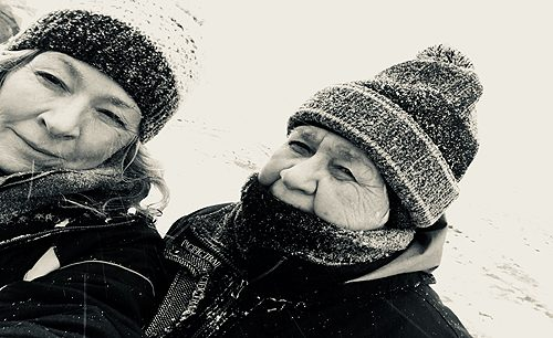 mom and me in the ice storm